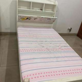 Bed With Matress N Side Table