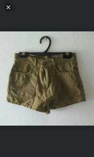 BLESSING Army Green Shorts