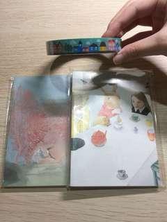 童話藝術筆記本+房子膠帶