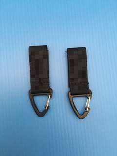🚚 Military Tactical Hanging Belt Nylon Carabiner Key Molle Buckle Hook Strap Clip