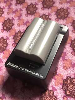 NIKON Battery EN-EL3e with FREE NIKON Quick Charger