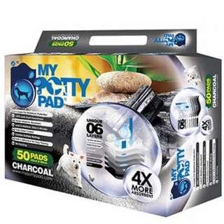 4 Potty Pad Charcoal Pee Pads - Three 45 x 60 cm and One 33 x 45cm