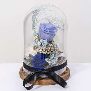 🚚 Preserved flower jar blue rose dome #caroupay