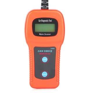 1014. Daoming U480 OBD2 Car Diagnostic Tool Engine Code Reader With LCD Display for OBD2 Vehicles - Orange