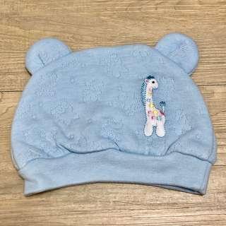 🚚 全新現貨~嬰兒帽子 寶寶帽子 長頸鹿圖案 熊熊耳朵造型