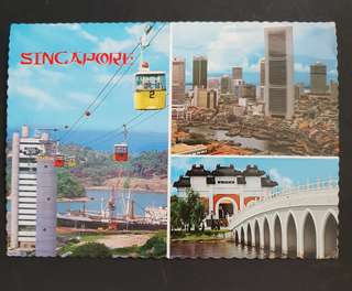 Singapore mutiview postcard used to UK 1980