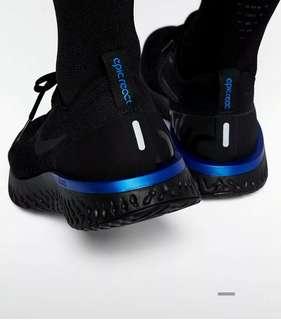 Nike flyknite Epic React Black n Blue 40-44