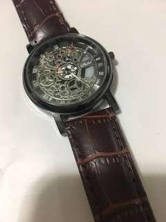 雕花面 錶 仿皮帶