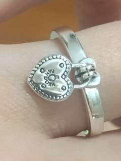 "Pandora ""Love Lock Ring"" New"
