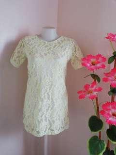 Long Lace Blouse