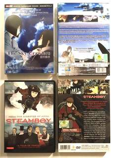The Sky Crawlers & Steamboy DVDs