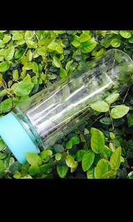 Transparent water bottle