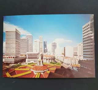 Singapore 70's postcard Shenton way & Robinson Road