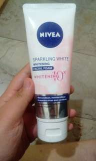 Nivea sparkling white foam