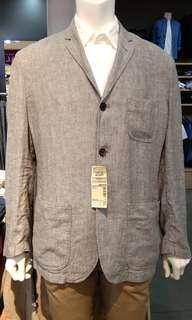 DP 0% Muji Jacket Mens Grey Cicilan Tanpa CC