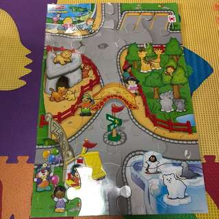 Little People 24-pc puzzle with mini car