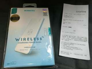 Romoss 5000mah power bank USB + wireless charger