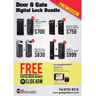 Digital Lock Bundle for Main Door and Gate Best Deals Start from $700