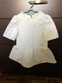 kid top white