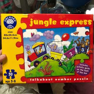 Jungle express talk about number puzzle