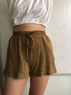 Suede H&M Shorts