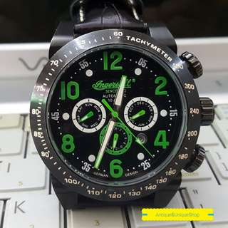 Ingersoll automatic black green super ganteng