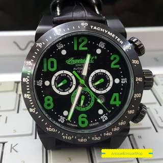 Ingersoll automatic black green super ganteng