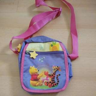 PRE-LOVED WINNIE THE POOH SLING POUCH (Very Good Condition)