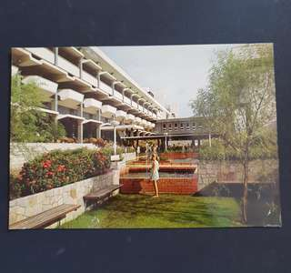 Singapore 1970's postcard inside view of Turf club