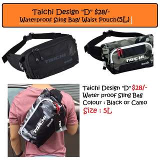 "Taichi RSB270 Design ""D"" Waterproof Sling/Hip/Waist bag $28/-"