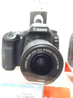 Kamera Canon EOS 80D DSLR (Kredit MURAH)