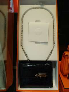 Hermes verrou mini crocodile