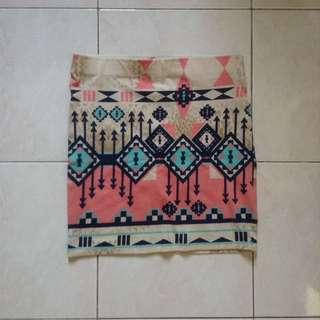 Bershka Aztec Skirt
