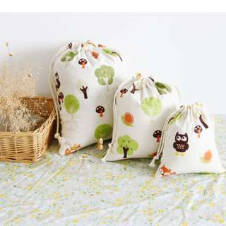 Whosales Happy Small Green Tree Cotton And Linen Lattice (RM1.20-RM4.20)