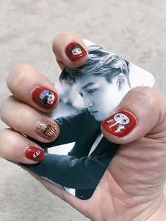 EXO waterdecals for nails