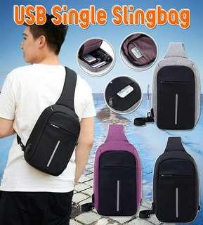 USB Single Sling Bag