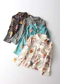 OshareGirl 06 西班牙單童趣系列女士印花圖案襯衫上衣