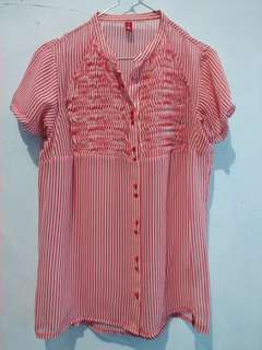 Stripe top red