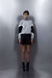 Asilio On The Flip Side Skirt- Black & Grey Size L