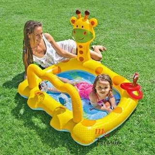 "Intex Smiley Giraffe Inflatable Baby Pool, 44"" X 36"" X 28.5"", for Ages 1-3"