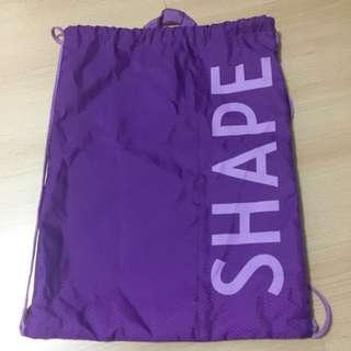 SHAPE drawstring bag in purple colour