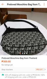 Preloved MOSCHINO Bag from Thailand