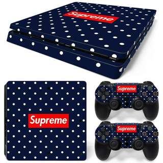 Supreme Polka Dot Skin Sticker For PS4 SLIM