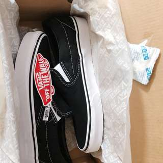 NEW - Vans Slip On Black/White Original