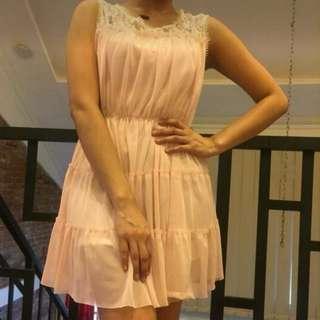 Dress chifon pink