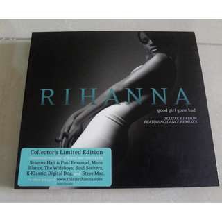 RIHANNA Good Girl Gone Bad Deluxe Edition Double CD Collector's Limited Edition