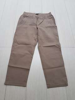 7/8 jogger trousers brown