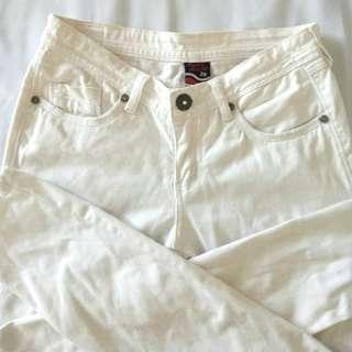 White BNY Skinny Jeans