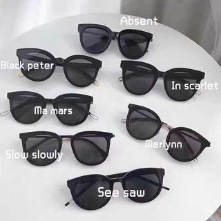 gentle monster sunglasses absent black Peter ma Mars 大合照