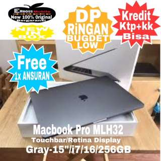 "Apple Macbook Pro MLH32-TouchBar/i7/15""/16/256GB-New kreditan Call/Wa;081905288895"